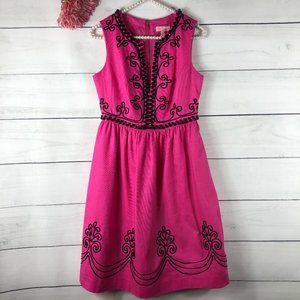 Lilly Pulitzer Alexandra Black Pink Bead Dress 829